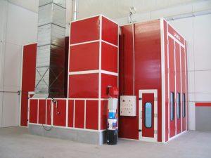 cabina pintura vehiculos industriales