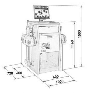 medidas alineador dirección C400 Launch