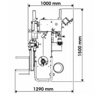 medidas desmontadora hpa launch M830